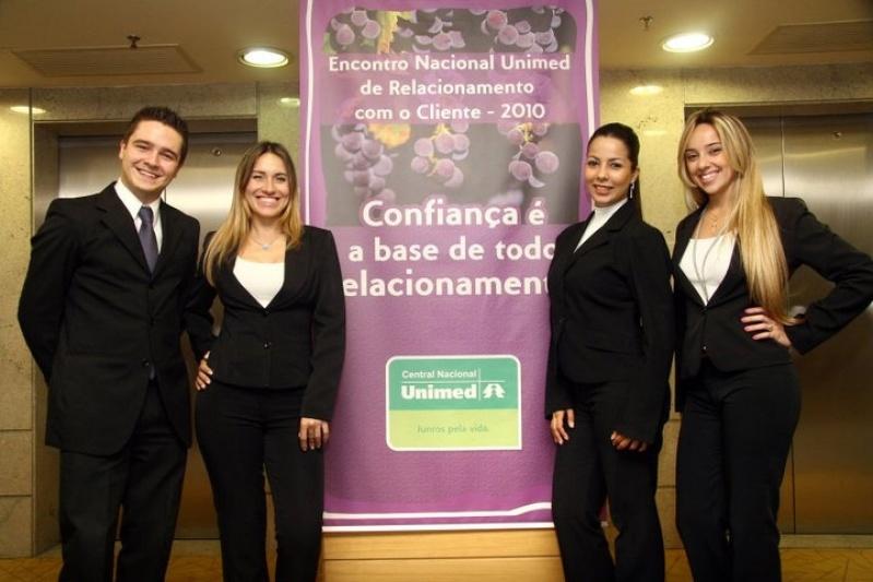 Recepcionistas Bilíngue para Eventos Parque São Jorge - Recepcionista para Feiras