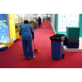 equipe de limpeza em feiras promocionais preço em Poá