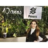 recepcionista para eventos corporativos em sp na Vila Anastácio