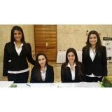 Recepcionista para conferência em Guararema